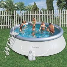 Piscina bestway autoportante tonda 57242 457 x 122 e pompa sabbia - Riparazione telo piscina ...