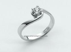 LID1419-D6 Anello Miluna Solitario con Diamante -