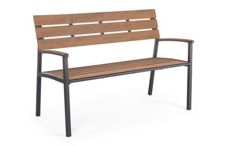 Panchina da giardino ISAKK antracite seduta polywood