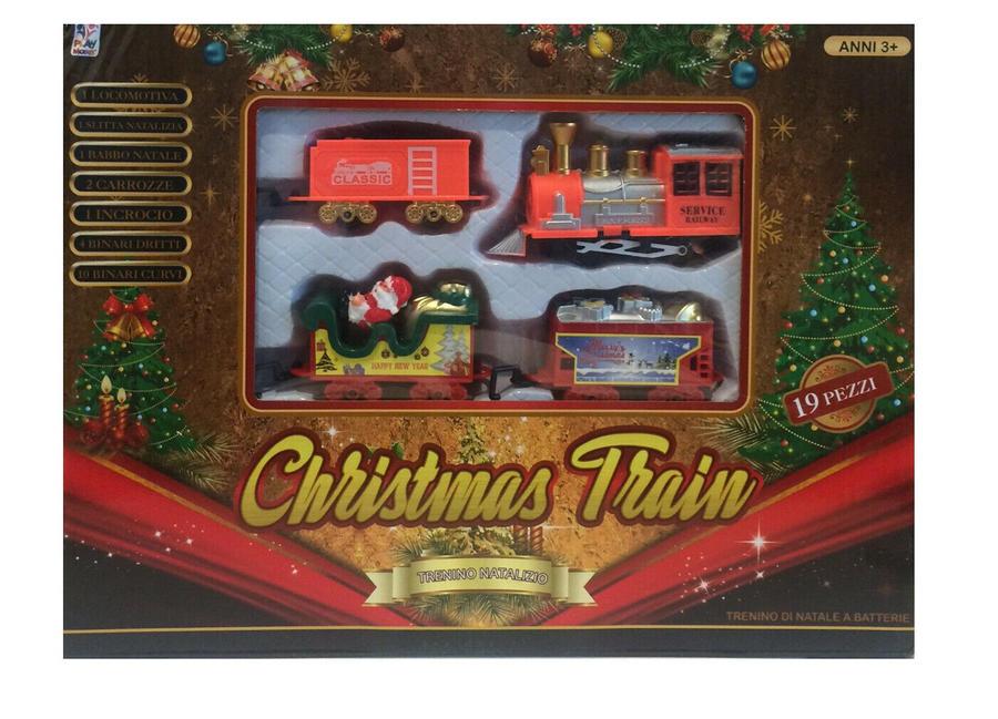 Trenino Locomotiva Treno Giocattolo Babbo Natale a Batteria Natalizio Albero Natalizio