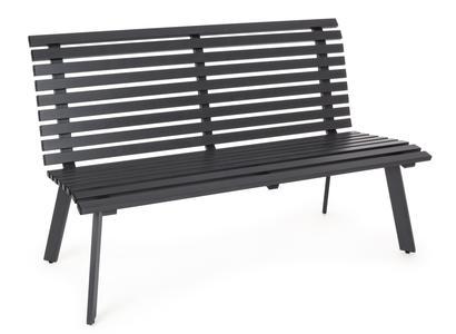 Panca 3 posti panche giardino seduta panchina esterno alluminio MALI 150 cm ANTRACITE