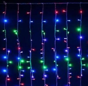 TENDA LUMINOSA MULTICOLOR A LED NATALE NATALIZIA PER ESTERNO E INTERNO 10MT *1.20MT 640 LED