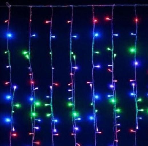 TENDA LUMINOSA MULTICOLOR A LED NATALE NATALIZIA PER ESTERNO E INTERNO 10MT *1.20MT 640 LED