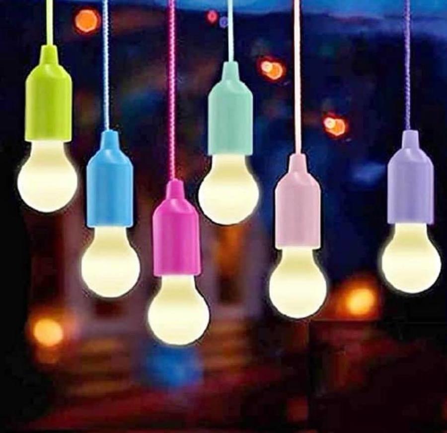 LAMPADA A LED SENZA FILI A BATTERIA LUCE LUX ILLUMINA DA APPENDERE VARI COLORI