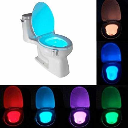 LUCE LED RGB PER WATER GABINETTO BAGNO WC UNIVERSALE CON SENSORE CREPUSCOLARE