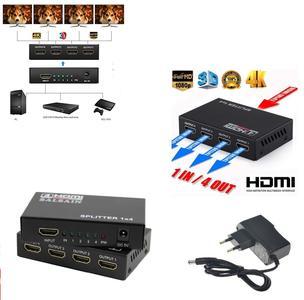 SDOPPIATORE 4 USCITE SPLITTER HDMI 1.4 1080P 3D 1X4 DVD TV PS3 ALTA RISOLUZIONE