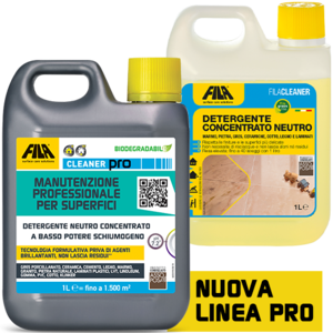 FILACLEANER CLEANER PRO- Detergente per pavimenti in pietra naturale con finitura lucida e sensibili ai detergenti forti 1lt fila