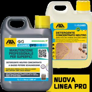 FILACLEANER - 5 lt CLEANER PRO Detergente per pavimenti in pietra naturale con finitura lucida e sensibili ai detergenti forti 5lt fila