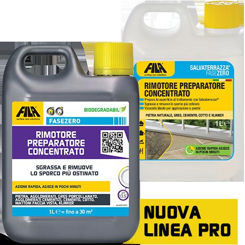 Detergente FILA per terrazza rimotore preparatore concentrato FILA FASEZERO  SALVATERRAZZA®  da 5 lt