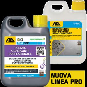 FILAPS87 -FILA PS87 PRO- 5 lt Detergente decerante sgrassante ottimo per il lavaggio di base su pietre non resistenti agli acidi