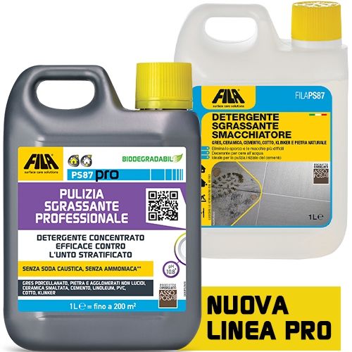 FILAPS87 FILA PS87 PRO 5 lt Detergente decerante sgrassante ottimo per il lavaggio di base su pietre non resistenti agli acidi