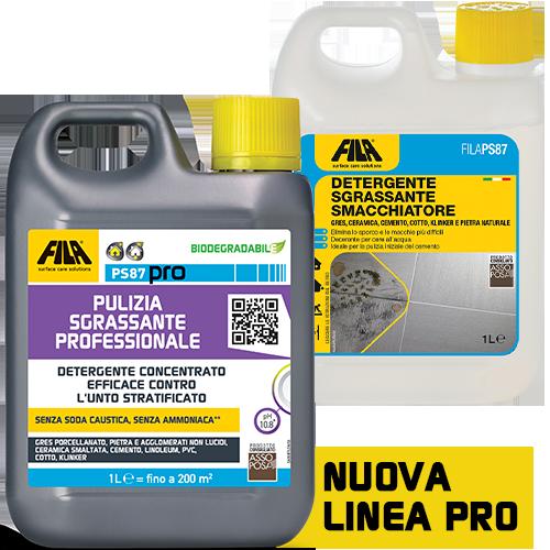 FILAPS87 - FILA PS87 - 1 lt Detergente decerante sgrassante ottimo per il lavaggio di base su pietre non resistenti agli acidi