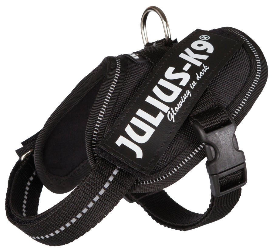 Julius K9 IDC Powerharness Pettorina Per Cani Nera Taglia Baby 2 XS S 33-45 cm