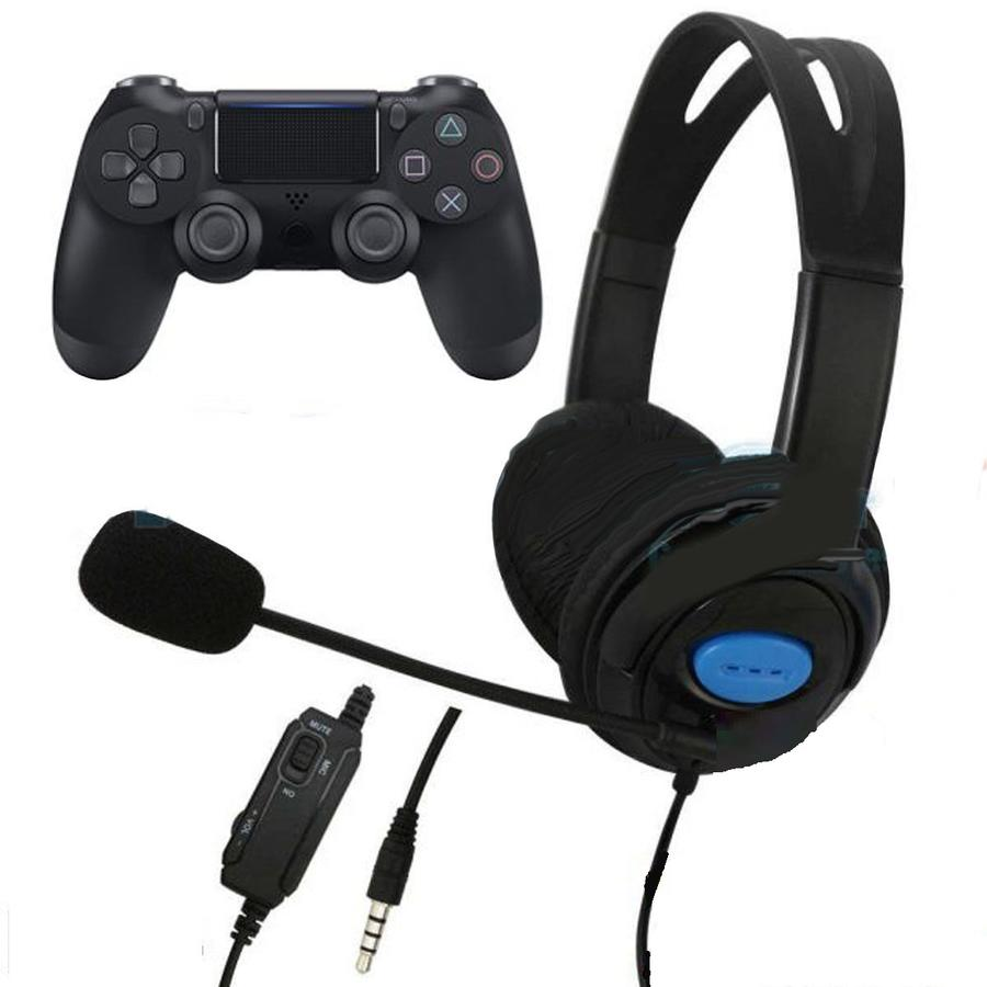 CUFFIE CON MICROFONO ANDOWL PLAYSTATION 4 ON EAR PER GIOCO PS4 X ONE PC XBOX ONE