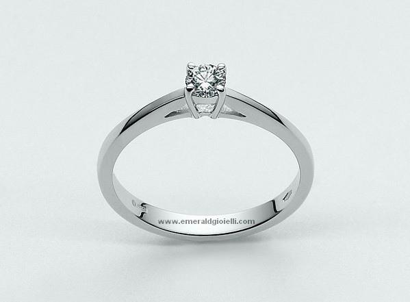 LID1417-D9 Anello Miluna Solitario con Diamante