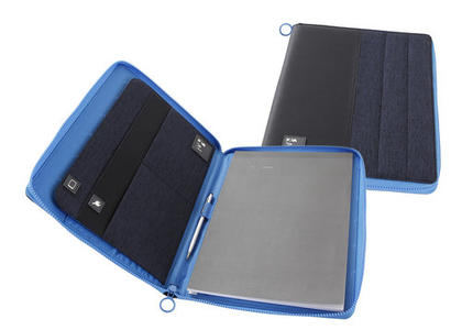Porta blocco A4 con cerniera Colore Blu - Linea Passenger