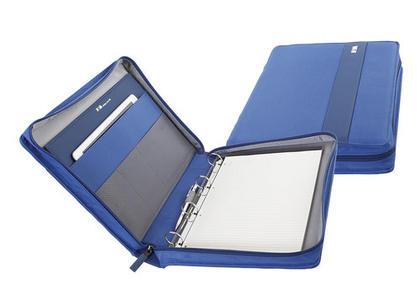 Portablocco formato A4 con chiusura zip e manico Colore Blu Cobalto - Linea Easy +