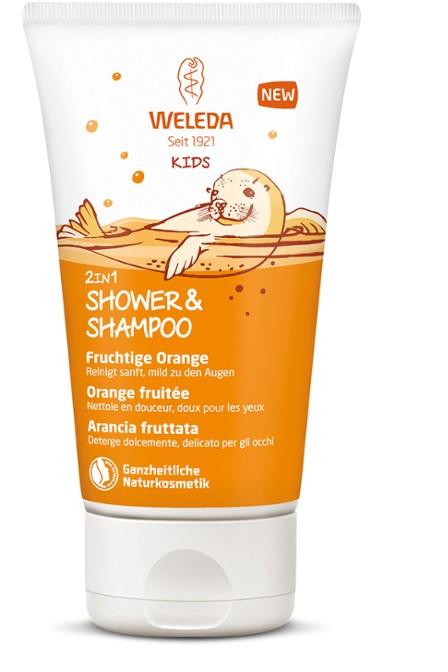 Weleda KIDS Doccia-Shampoo 2in1 Arancia Fruttata