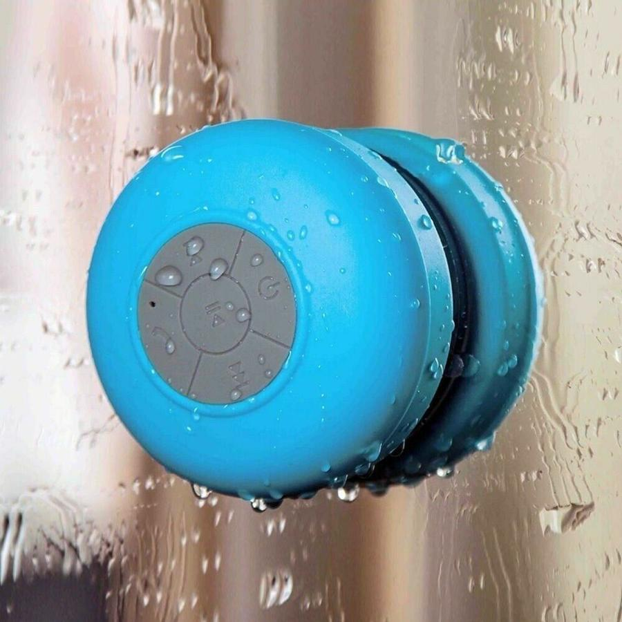 SPEAKER BLUETOOTH A VENTOSA AUDIO ALTOPARLANTE IMPERMEABILE WATERPROOF MIC