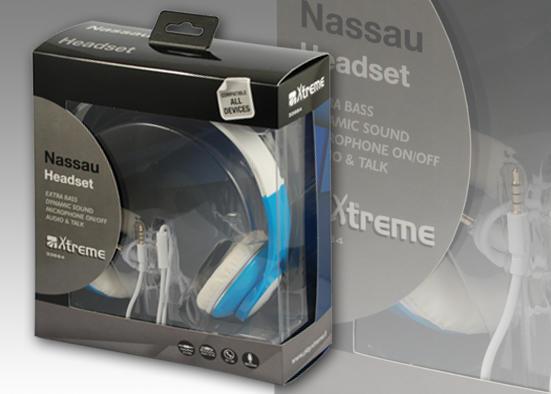 XTREME Nassau cuffie stereo + microfono VARI COLORI