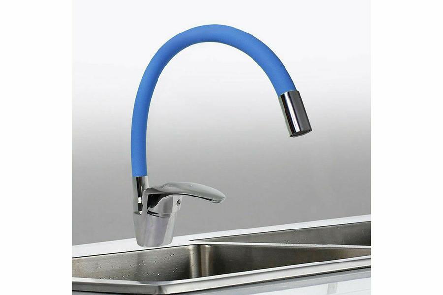 Rubinetto miscelatore vari colori a canna flessibile lavabo fontana cucina