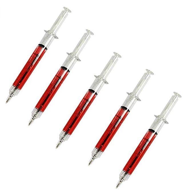 Penna a Sfera Siringa Liquido Rosso