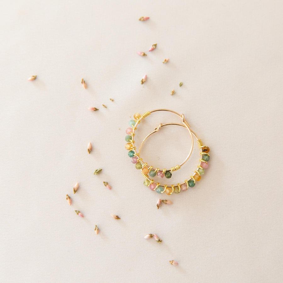 Cerchi in gold-filled con pietre micro [ + colori ]