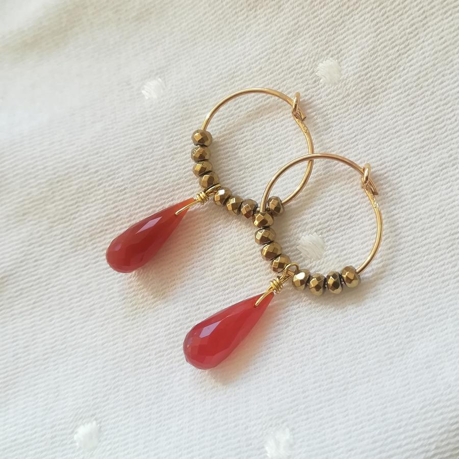 Cerchi in gold filled con ematite e goccia [ + colori ]