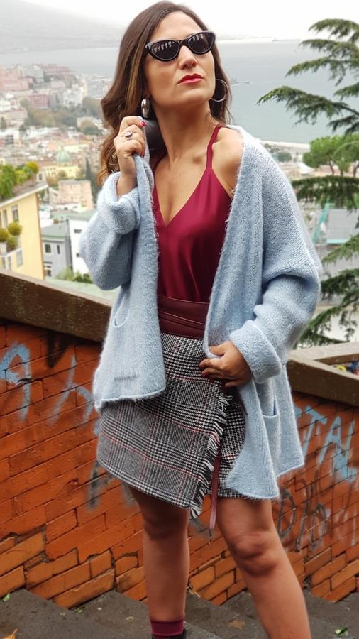 Cardigan in lana mohair