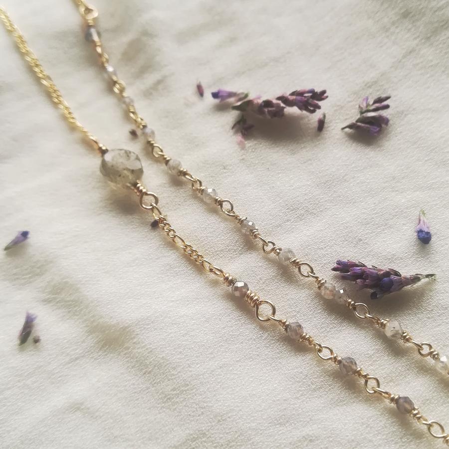 Collana rosario con piccola pietra [ + colori ]