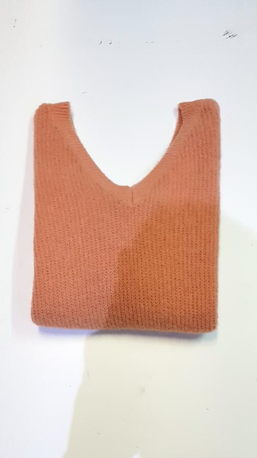 Maxypull in lana mohair doppio scollo