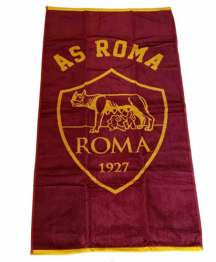 AS Roma 1927 Telo Mare Premim 70cm x 135cm Originale x Fans GialloRossi XU2312 in 2  varianti colore