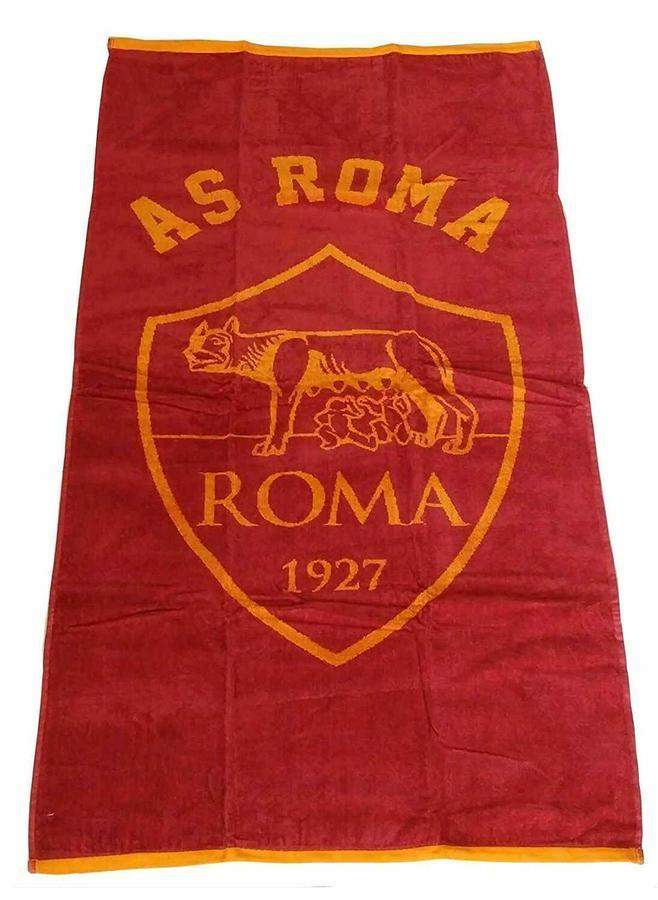 Telo Mare AS Roma 1927 Originale Premium 70cm x 135cm Originale Premium  x Fans GialloRossi XU2312 in 2  varianti colore