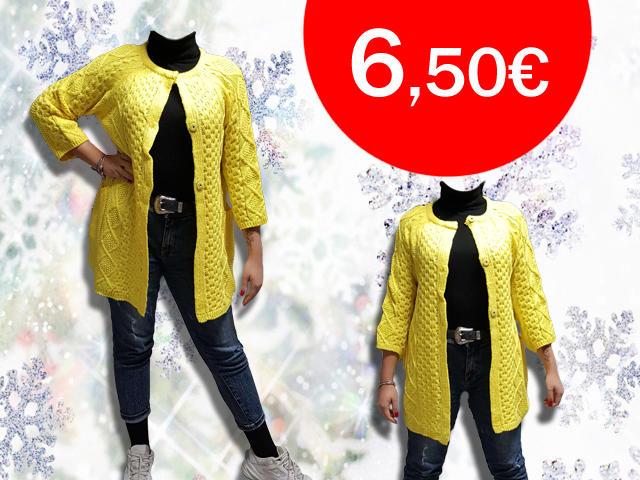 Cardigan donna con bottoni trama treccia taglia unica vari colori