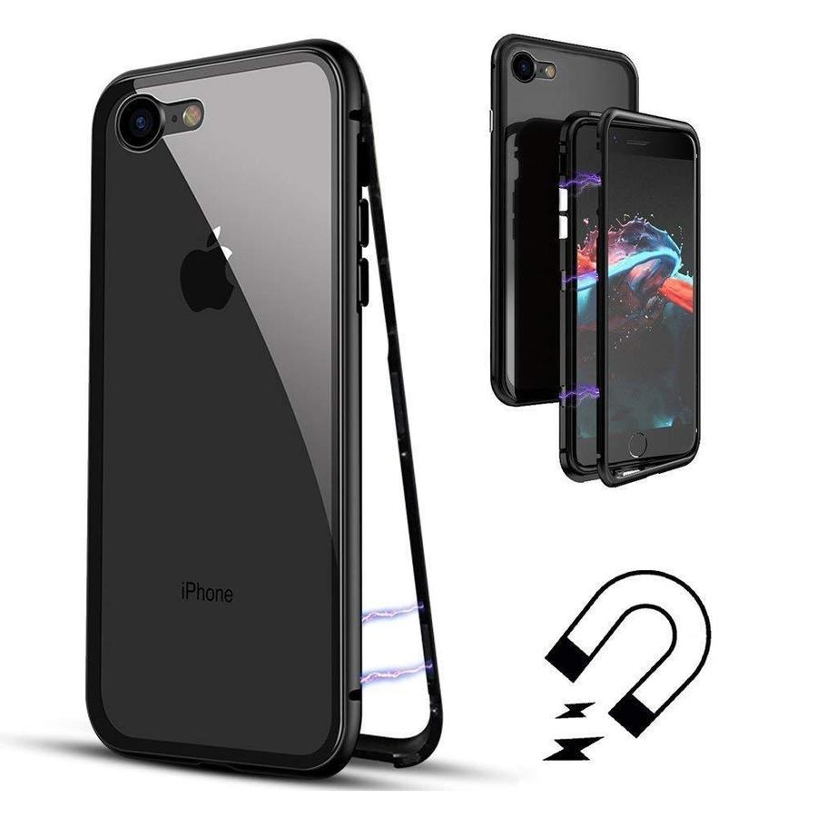 Cover Magnetica Alluminio Custodia per Apple iPhone 8/8 PLUS Vetro Temperato 9H