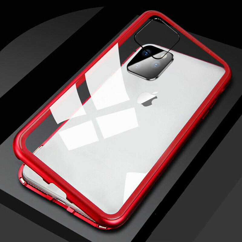 Cover Magnetica Alluminio Custodia per Apple iPhone 11/PRO/PRO MAX Vetro Temperato 9H