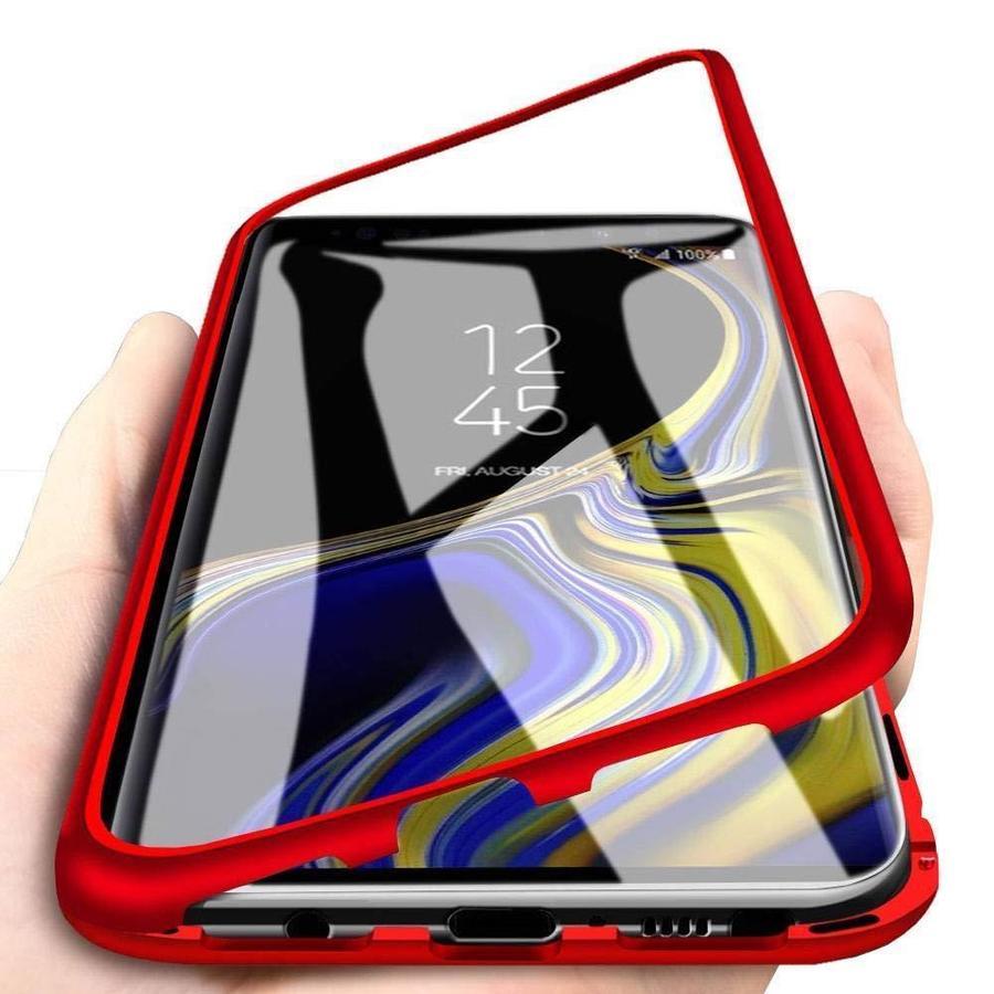 COVER CUSTODIA MAGNETICA ALLUMINIO VETRO TEMPERATO SAMSUNG GALAXY  S9 / S9 PLUS