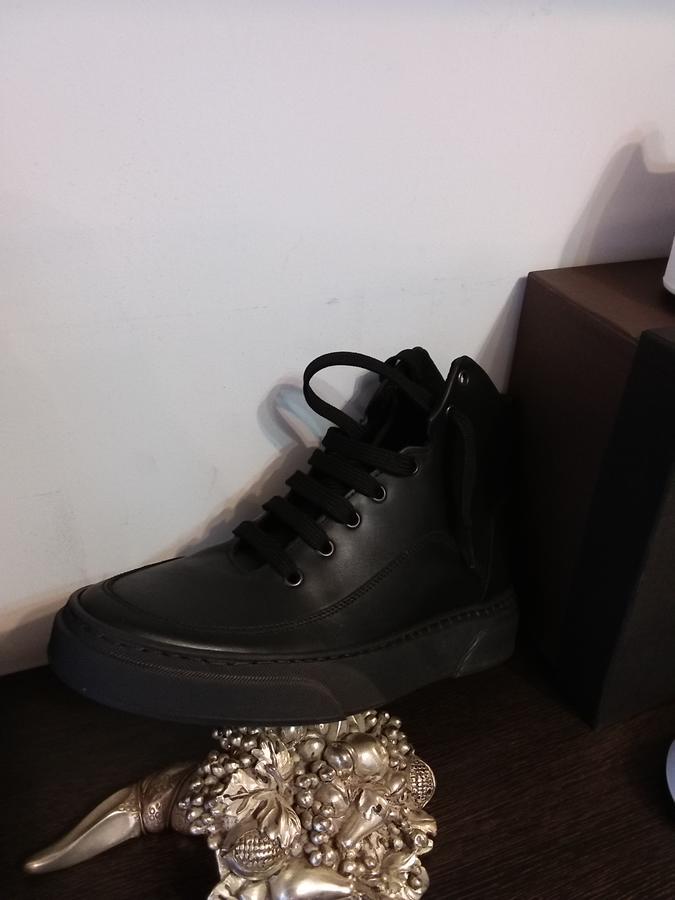 Stivale sneaker uomo pelle nera