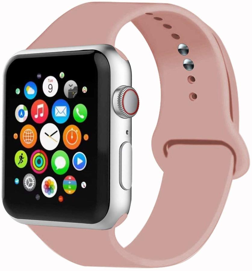 CINTURINO PER APPLE WATCH SERIES 4 SPORT RUN SILICONE PRO MISURE 44 42 40 38 mm