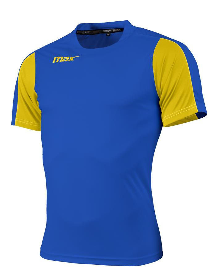 Max Sport Maglia calcio calcetto mod SIMETO - Royal / Giallo