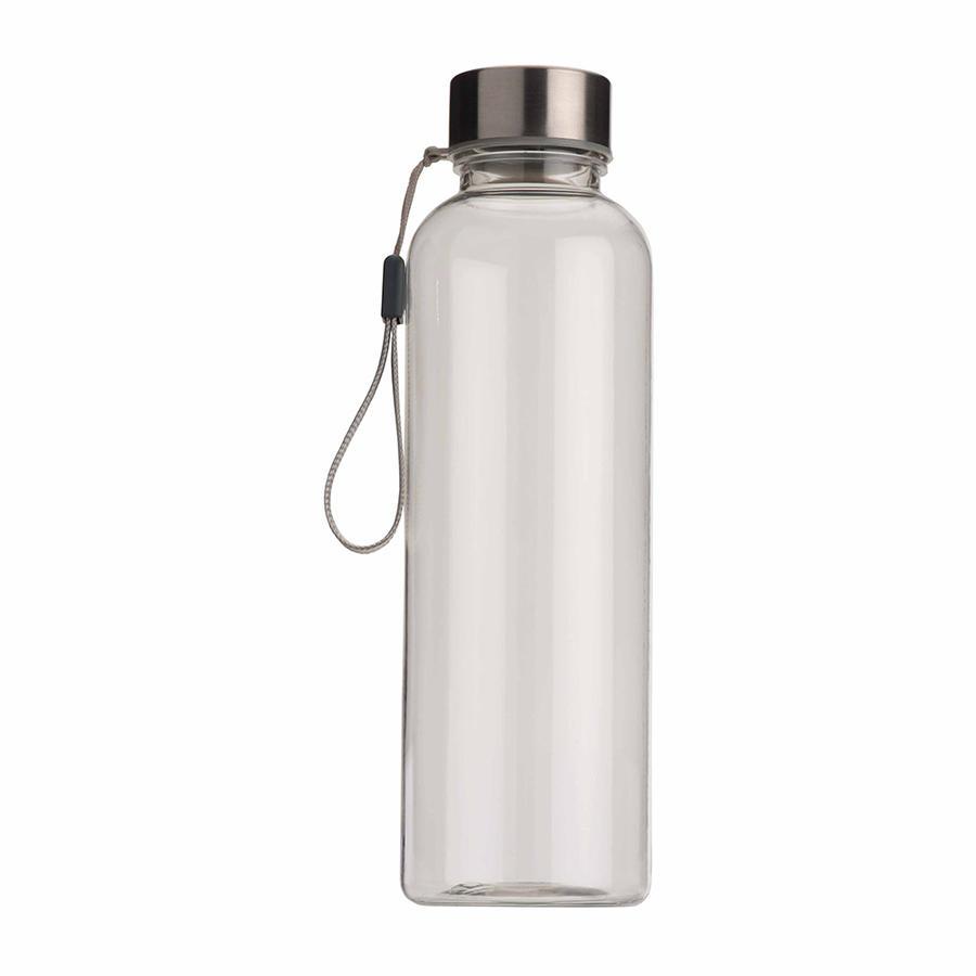 Confezione da 50 Borracce in tritan trasparente con tappo in metallo (500ml). BPA free
