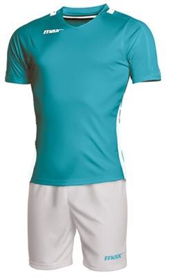 Max Sport Completo calcio Kit BAHREIN colore CELESTE / BIANCO