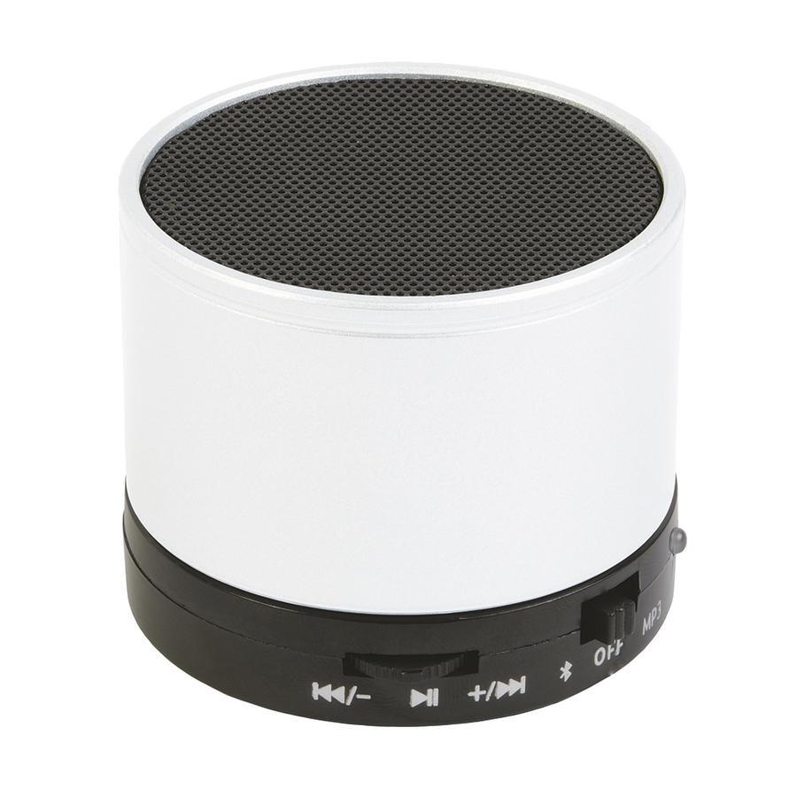 Mini altoparlante Bluetooth V 3.0 cilindrico in metallo con microfono per chiamate in vivavoce. Cavo Standard ricarica incluso