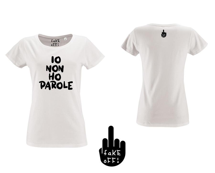 T-Shirt Donna Io Non Ho Parole