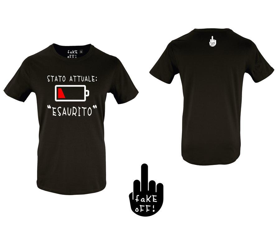 """T-Shirt Stato Attuale """"Esaurito"""""""
