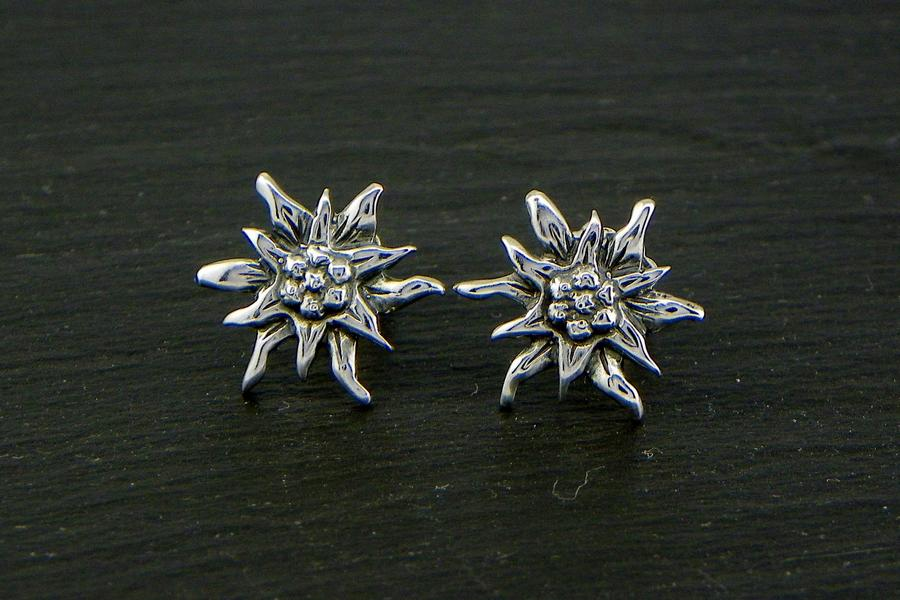 Edelweiss Orecchini Argento brunito