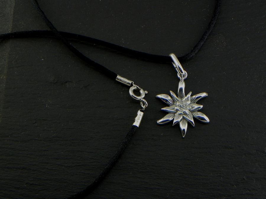 Edelweiss Girocollo/Ciondolo in Argento brunito