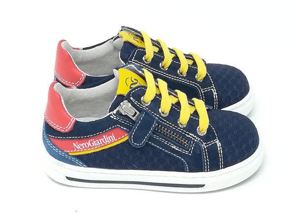 Sneaker Tela/Pelle - NERO GIARDINI Kids & Teens