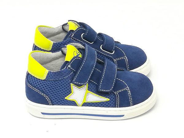 Baby Sneaker Blu/Giallo/Bianco - NERO GIARDINI Kids & Teens