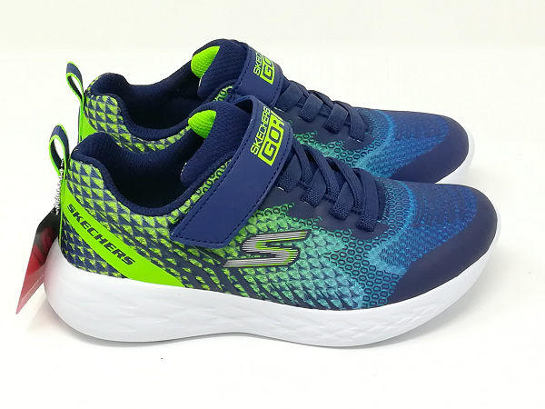 Go Run 600 Blu/Lime - SKECHERS